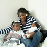 1 185 150x150 Mercy Johnson shares family Photos with Hubby, daughter & new born son
