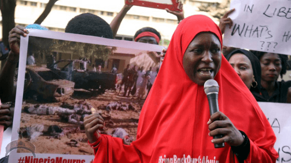 219 Pics: #Bringbackourgirls group pour to the street to protest killing of 47 Yobe students