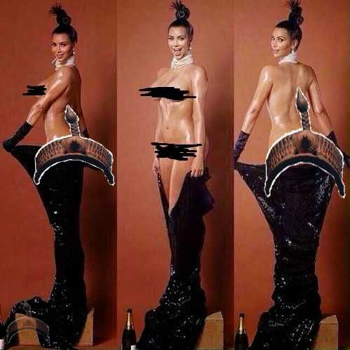 Kim K11 Pics: So Kim K actually possed n@ked for Paper