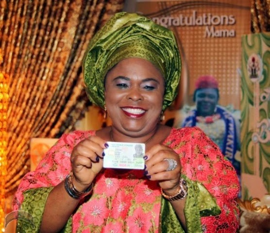 Patience Jonathan Photos: Patience Jonathan shows off her National I.D card