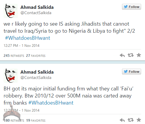 akin31 Full Analogy Of What Boko Haram Wants By Ahmad Salkida Nigerian journalist #WhatDoesBHWant