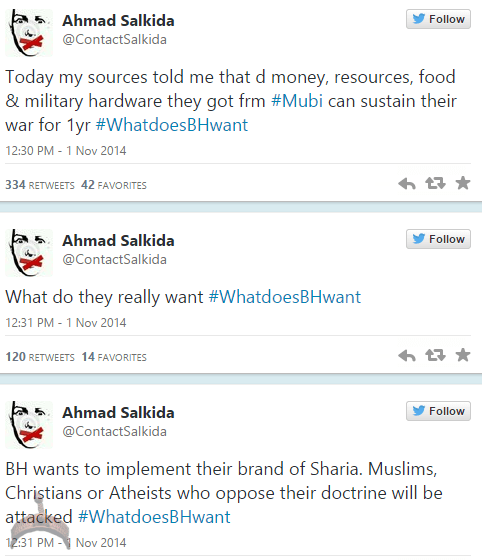 akin34 Full Analogy Of What Boko Haram Wants By Ahmad Salkida Nigerian journalist #WhatDoesBHWant