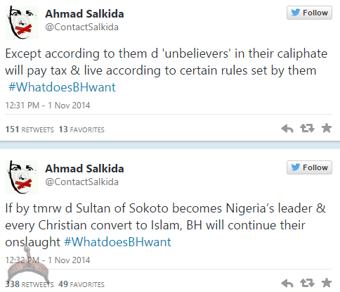 akin35 Full Analogy Of What Boko Haram Wants By Ahmad Salkida Nigerian journalist #WhatDoesBHWant