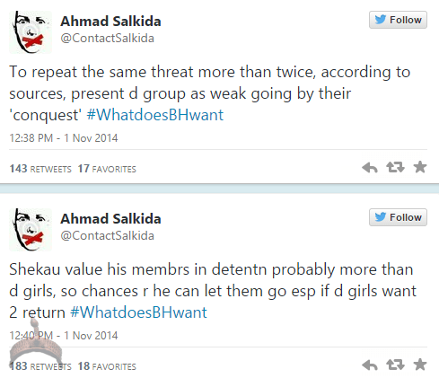 akin46 Full Analogy Of What Boko Haram Wants By Ahmad Salkida Nigerian journalist #WhatDoesBHWant