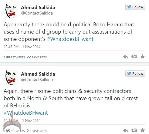akin52 Full Analogy Of What Boko Haram Wants By Ahmad Salkida Nigerian journalist #WhatDoesBHWant