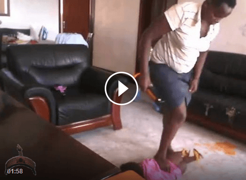 animal in human flesh1 Shocking Video: House Keeper beats the hell out of a Baby