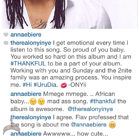 anna Anna Banner, Flavours other boo and Onyinye, on IG