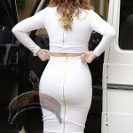 khloe k4 150x150 Pics: Khloe K, her backside & other Kardashians attend Kourtneys baby shower.