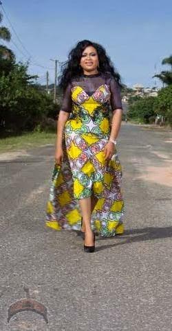 oo1 Actress Nkiru Silvanus wows in Ankara dress