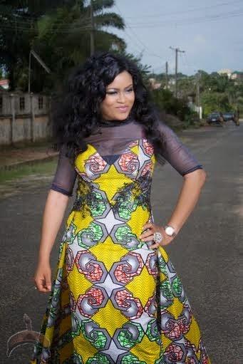 oooooo Actress Nkiru Silvanus wows in Ankara dress