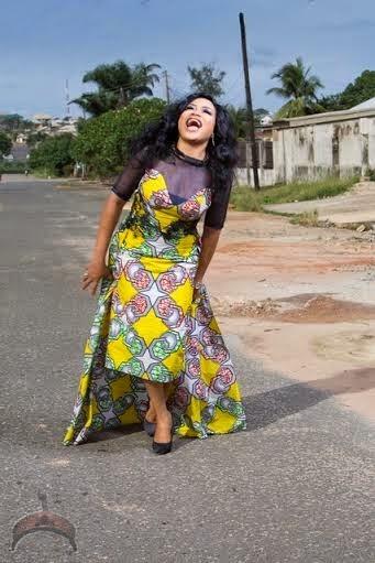 ooooooo Actress Nkiru Silvanus wows in Ankara dress