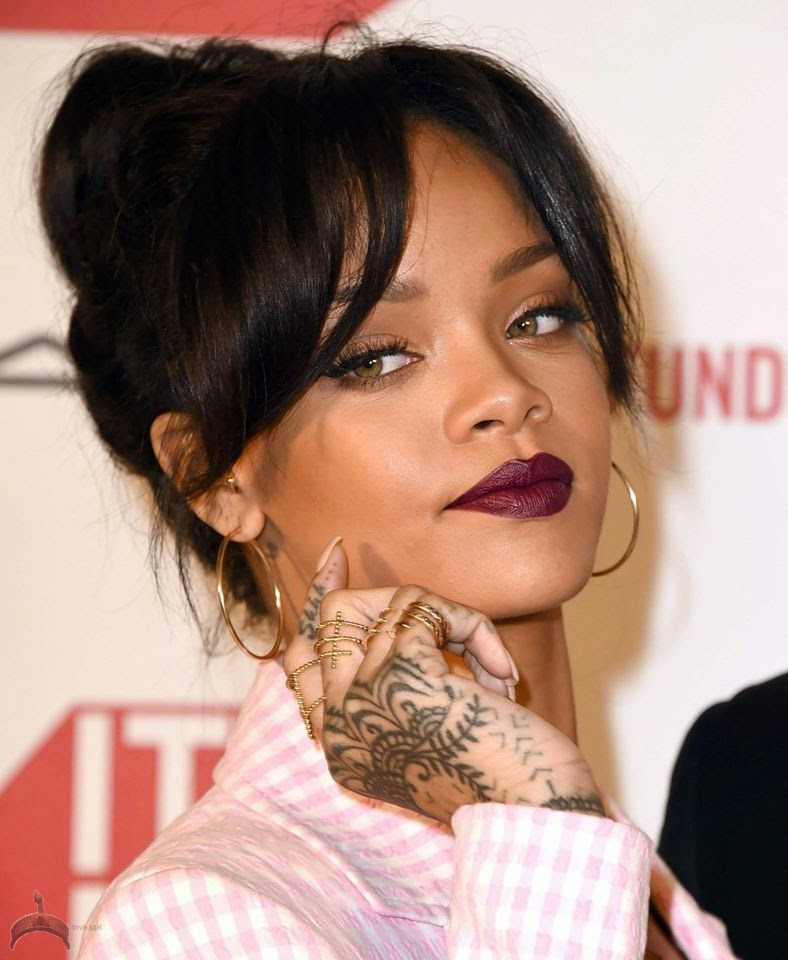 riri12 Riri Flaunts Her Fierce Ink At MAC Aids Fund Event In LA Yesterday
