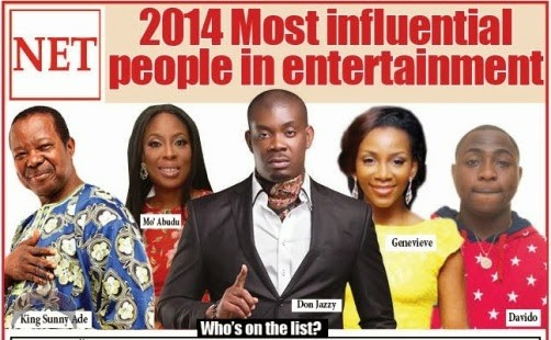 spe 2014 Most Influential People in Entertainment in Nigeria