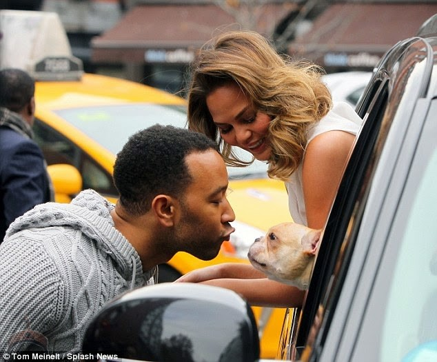 1 42 So John Legend Kisses Wifes Milk Jugs and wife Kiss in Public.