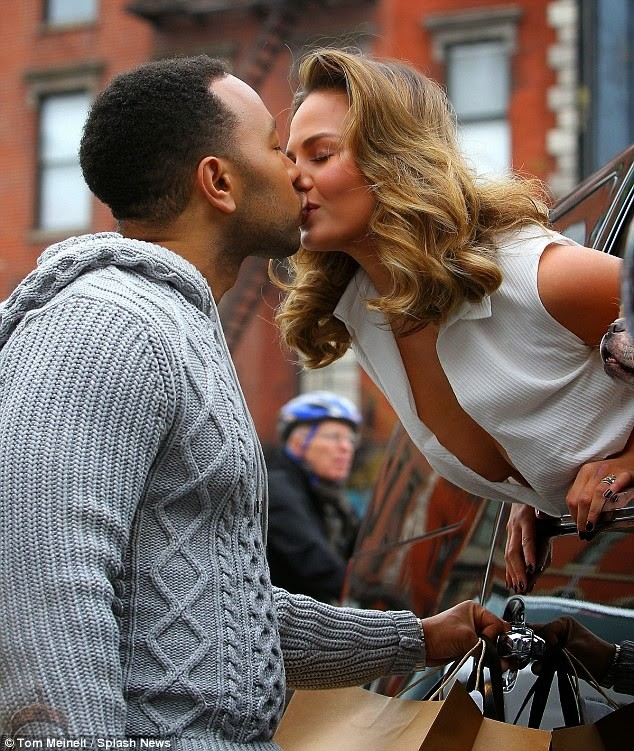1 62 So John Legend Kisses Wifes Milk Jugs and wife Kiss in Public.