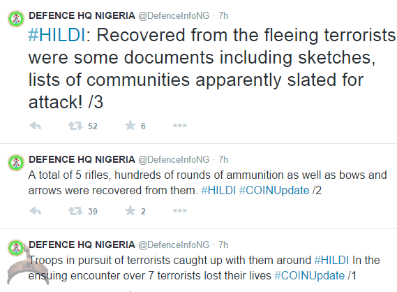 136 Nigeria Military recover BHarams hit list & sketches, 27 militants die.