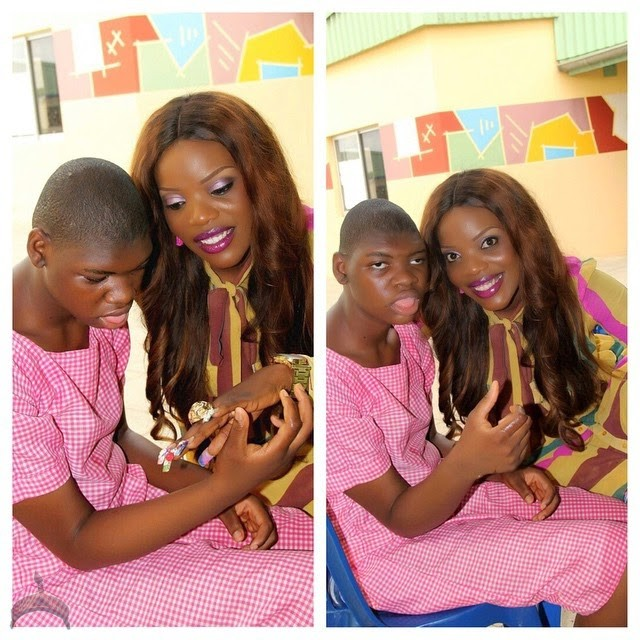 16 Photos: Nollywood Actress Empress Njamah visits Kids with Down Syndrome !
