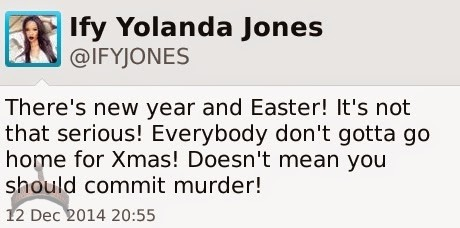 220 Ify Yolanda Jones disagress with Wale Gates defence of maid/baby killer