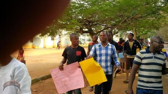 223 Photos: Post graduate students of UNN Protest hike in tuition fees