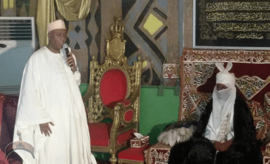 23 Pics: Gov Amaechi and Sen. Saraki pay condolence visit to Emir of Kano