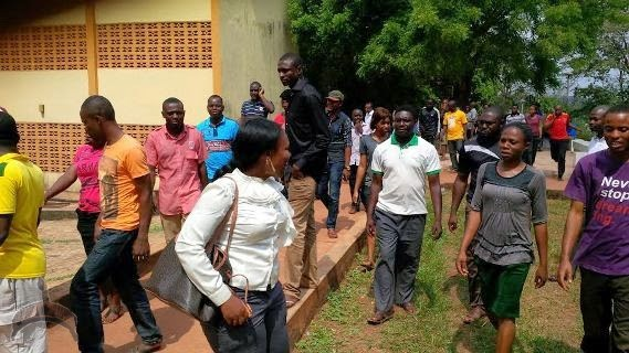 513 Photos: Post graduate students of UNN Protest hike in tuition fees