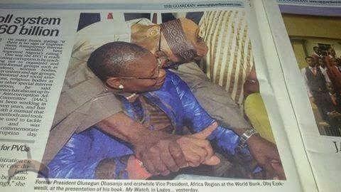 Ezekwesili1 Obj Not My Concubine; OBJ's Public Kiss Lands Oby Ezekwesili In Trouble