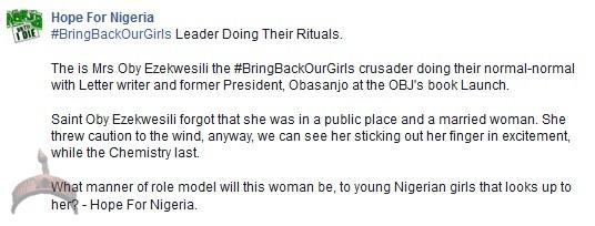 Ezekwesili2 Obj Not My Concubine; OBJ's Public Kiss Lands Oby Ezekwesili In Trouble