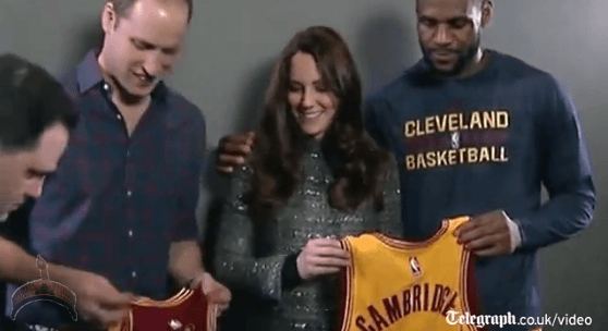 Lebron James1 Lebron James ignores royal protocol while taking pics with Kate Middleton