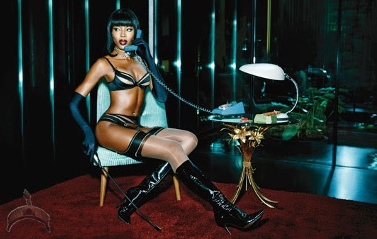 Naomi Campbell in 3139336a @44 supermodel Naomi Campbell strikes a pose in new shoot for lingerie brand