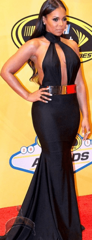 ashanti Photos: Ashanti stuns in black gown at Nascar Awards in Vegas