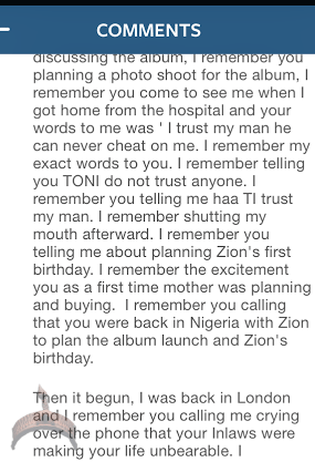 b7 Toni Paynes companion writes on Tonis marriage distress with 9ice