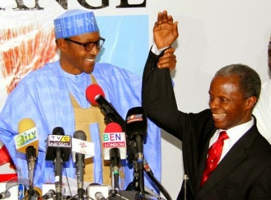 buhari1 Why I chose Osinbajo as running mate – GMB