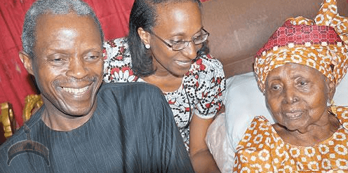Photo of APC VP candidate Prof. Osinbajo with HID Awolowo