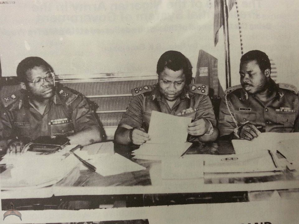Maj-Gen Jemibewon, and Brigadiers Babangida and Vatsa.