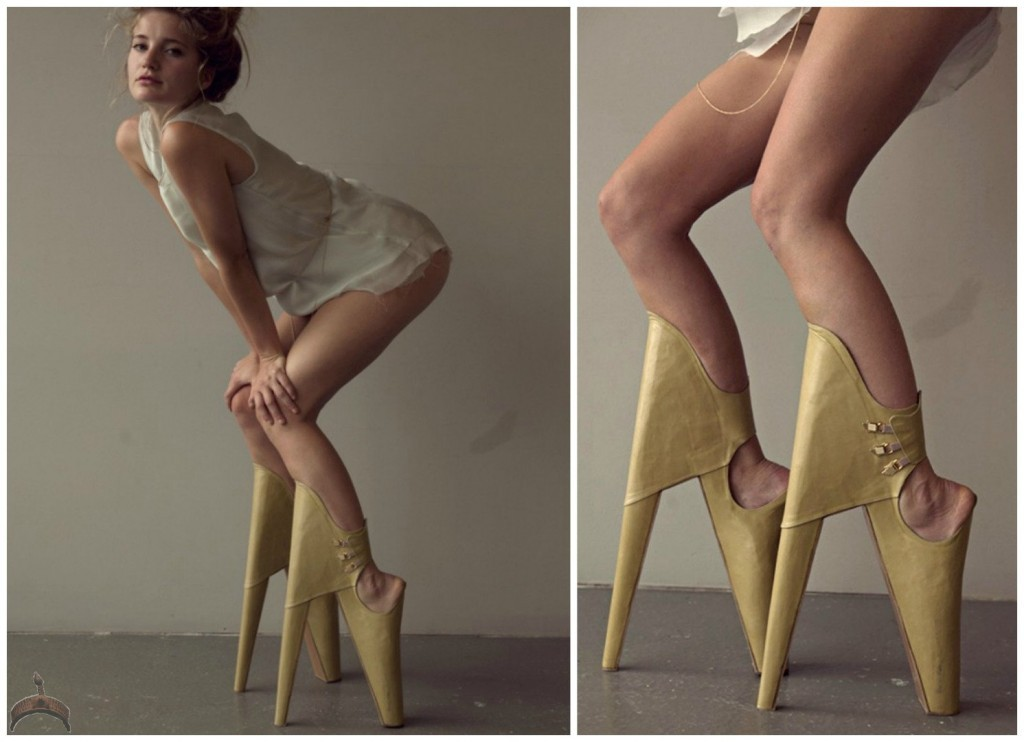 Backwards High Heels