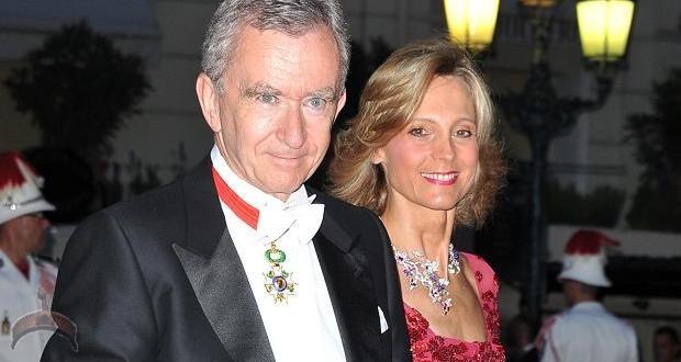 Bernard Arnault and Helene Mercier