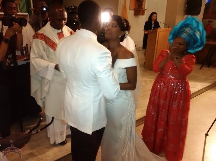 Osas ighodaro and gbenro ajibade wedding dresses