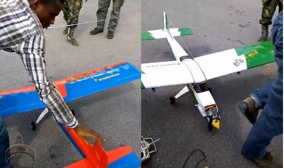 homemade nigerian drone