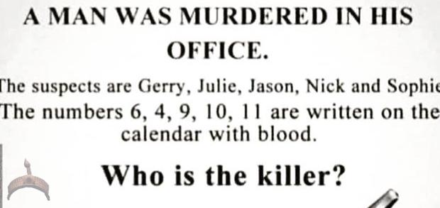 killer riddle