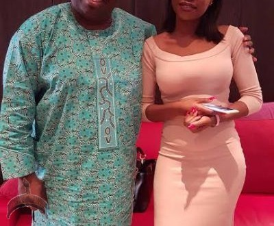 Ovation Publisher, Dele Momodu pictured with his cousin, Sophie Momodu earlier today