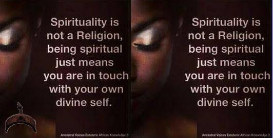 spirituality not a religion