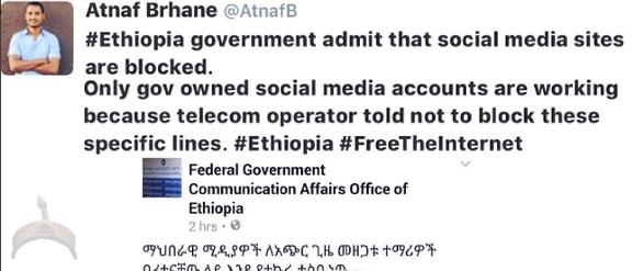 Ethiopia blocks social