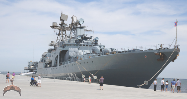 The Russian destroyer Vice-Admiral Kulakov