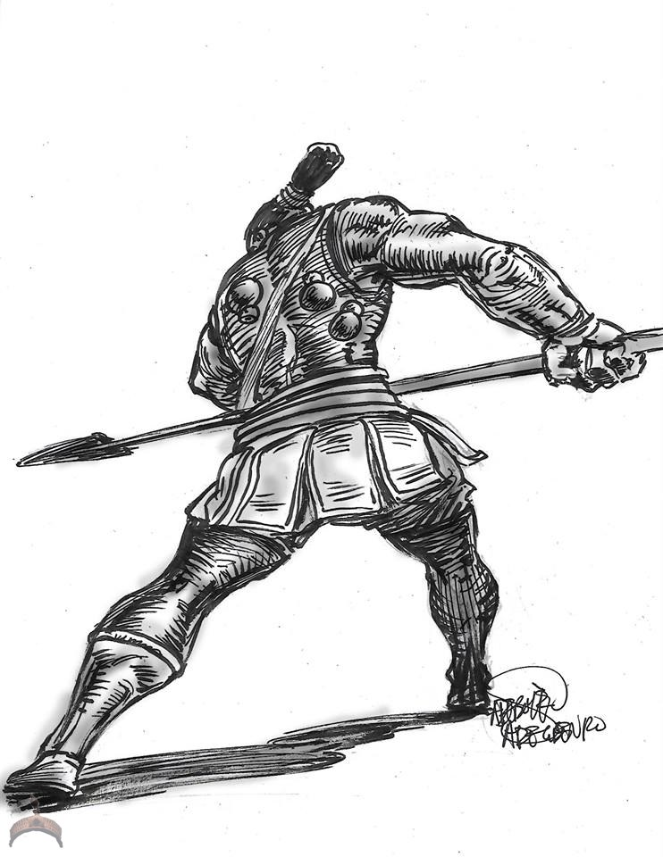 Jagun (Warrior with spear)