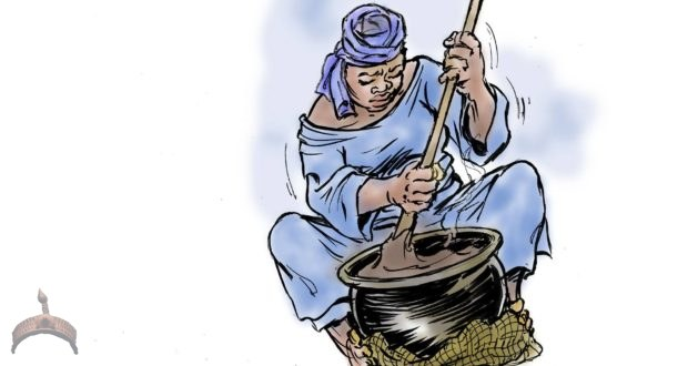 The Amala Maker at kọ́bítí © Adeboye Adegbenro