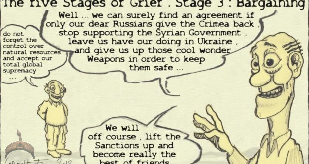 The five stages of imperial grief bargaining