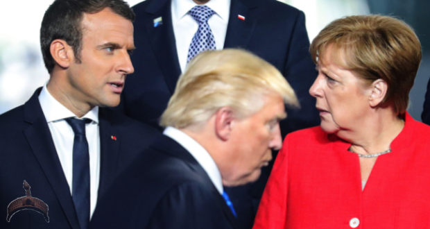 Trump, May, Merkel and Macron
