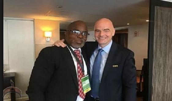 Amaju Pinnick and FIFA president Infantino