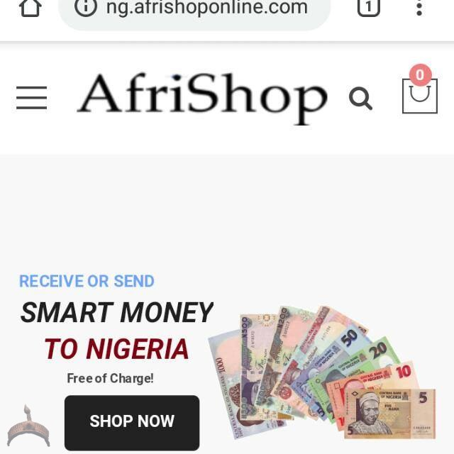 AfriShop Wire Transfer Sending Smart Money to Nigeria Free of Charg