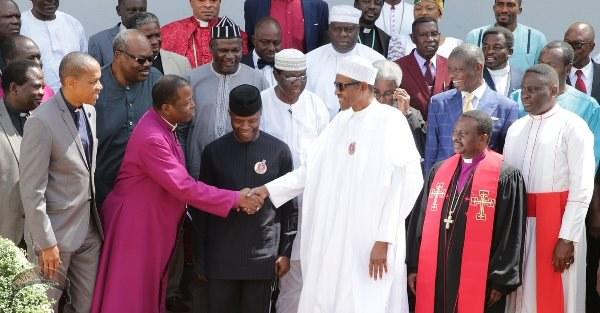 Buhari meets Christian Leaders in Aso Rock